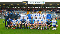 2nd February 2020; TEG Cusack Park, Mullingar, Westmeath, Ireland; Allianz Division 1 Hurling, Westmeath versus Waterford; Waterford team line up before throw in
