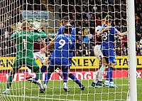Burnley's Jeff Hendrick volleys to beat Everton's Jordan Pickford for the opening goal<br /> <br /> Photographer Rich Linley/CameraSport<br /> <br /> The Premier League - Burnley v Everton - Saturday 5th October 2019 - Turf Moor - Burnley<br /> <br /> World Copyright © 2019 CameraSport. All rights reserved. 43 Linden Ave. Countesthorpe. Leicester. England. LE8 5PG - Tel: +44 (0) 116 277 4147 - admin@camerasport.com - www.camerasport.com