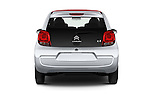 Straight rear view of 2015 Citroen C1 Airscape-Feel-Edition 3 Door Micro Car Rear View  stock images