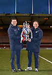 Rangers coaches Billy Kirkwood and Jimmy SInclair lift the Glasgow Cup