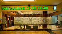 Dubai.  Branch of National Bank of Abu Dhabi in Mall of the Emirates..