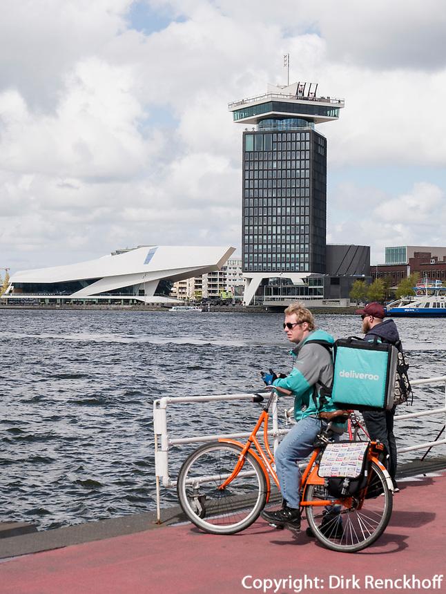 Hafenf&auml;hre, Eye Filmmuseum und A'DAMToren, Amsterdam, Provinz Nordholland, Niederlande<br /> harbor ferry, Eye Filmmuseum and A'DAM Toren, Amsterdam, Province North Holland, Netherlands