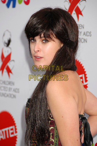 """RUMER WILLIS.Attending the Dream Halloween """"Under The Big Top"""" Benefit for the Children Affected by AIDS Foundation at Barker Hangar, Santa Monica, California, USA,.27 October 2007..costume party Halloween fancy dress fringe portrait headshot back over shoulder.CAP/ADM/BP.©Byron Purvis/AdMedia/Capital Pictures."""
