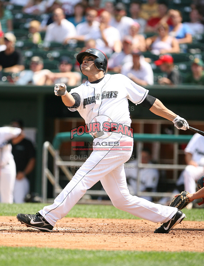 2007:  Sergio Santos of the New Hampshire Fisher Cats, Class-AA affiliate of the Toronto Blue Jays, during the Eastern League baseball season.  Photo by Mike Janes/Four Seam Images