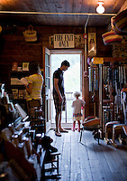 Shopping at the Mast General Store in Valle Crucis, NC.