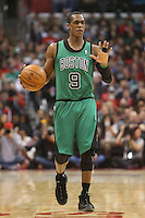 12/27/12 Los Angeles, CA: Boston Celtics point guard Rajon Rondo #9 during an NBA game between the Los Angeles Clippers and the Boston Celtics played at Staples Center. The Clippers defeated the Celtics 106-77 for their 15th straight win.