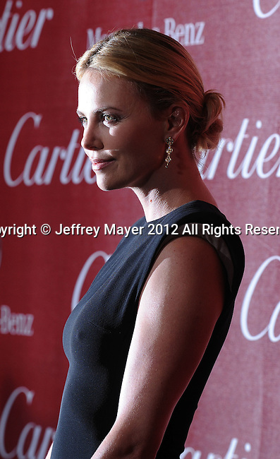 PALM SPRINGS, CA - JANUARY 08: Charlize Theron arrives at the 2012 Palm Springs Film Festival Awards Gala at the Palm Springs Convention Center on January 7, 2012 in Palm Springs, California.