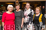 Breda, Geraldine and Trisha King with Mai Shanahan, all from Ballyroe, Tralee, pictured at the Kerry Supporters Club social on Saturday night last at Ballygarry House Hotel & Spa, Tralee.
