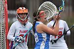 Santa Barbara, CA 02/19/11 - Marissa Higgins (Florida #21) and Allie Simpson (UCLA #42) in action during the UCLA-Florida game at the 2011 Santa Barbara Shootout.