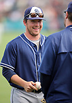 Padres' Colby Blueberg warms up before a spring training game in Scottsdale, Ariz., on Saturday, March 25, 2017. The San Francisco Giants beat the Padres 8-7. <br />
