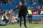 Atletico de Madrid's coach Diego Pablo Simeone during La Liga match. March 1,2016. (ALTERPHOTOS/Acero)