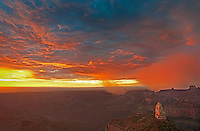 749220316 sunrise storms and heavy cloud cover over mount hayden at point imperial north rim of the grand canyon in arizona united states
