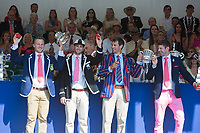 Henley Royal Regatta 2018 - Sunday<br /> <br /> To purchase this photo, or to see pricing information for Prints and Downloads, click the blue 'Add to Cart' button at the top-right of the page.