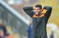 Blackpool's Michael Nottingham during the pre-match warm-up <br /> <br /> Photographer Kevin Barnes/CameraSport<br /> <br /> Emirates FA Cup First Round - Exeter City v Blackpool - Saturday 10th November 2018 - St James Park - Exeter<br />  <br /> World Copyright &copy; 2018 CameraSport. All rights reserved. 43 Linden Ave. Countesthorpe. Leicester. England. LE8 5PG - Tel: +44 (0) 116 277 4147 - admin@camerasport.com - www.camerasport.com