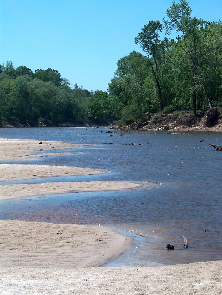Sandbars along the Pearl River