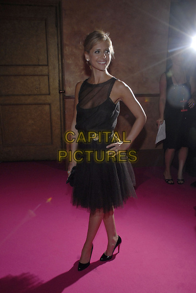 "SARAH MICHELLE GELLAR.Van Cleef & Arpels Hosts ""Une Journee A Paris"" at the Hammerstein Ballroom, New York, New York, USA..September 4th, 2007.full length black dress christian louboutin shoes sleeveless sheer hand on hip .CAP/ADM/BL.©Bill Lyons/AdMedia/Capital Pictures *** Local Caption ***"