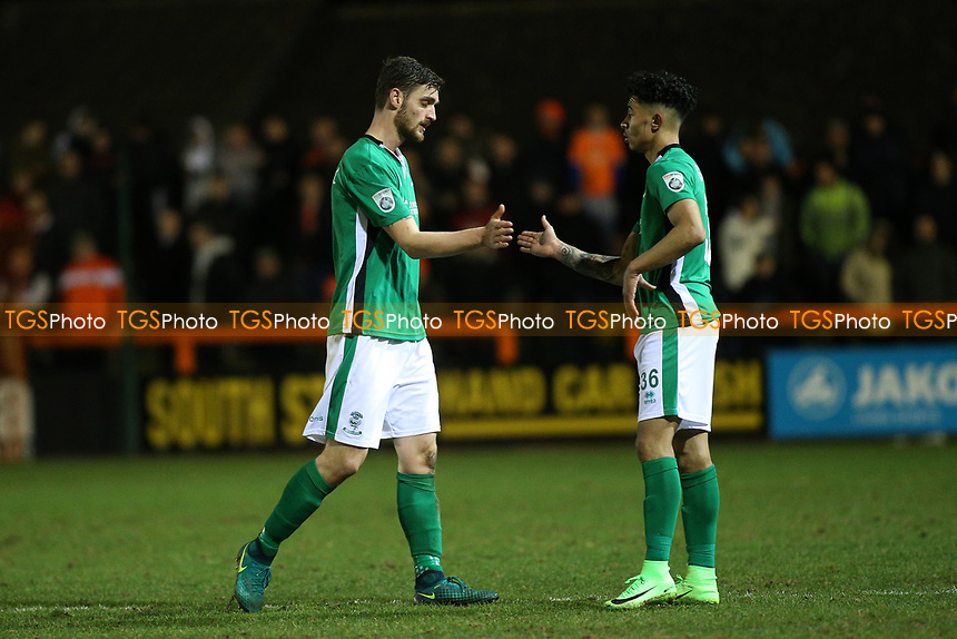 Luke Waterfall of Lincoln City leaves the field having been substituted during Braintree Town vs Lincoln City, Vanarama National League Football at the IronmongeryDirect Stadium on 7th March 2017