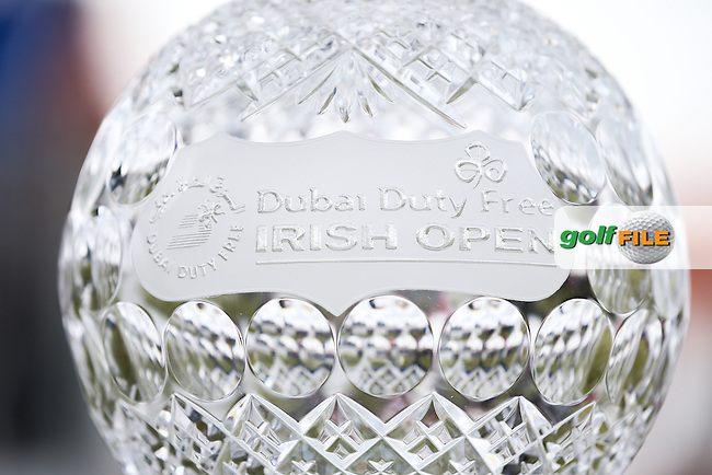 Close up of the Trophy during Round Three of the 2015 Dubai Duty Free Irish Open Hosted by The Rory Foundation at Royal County Down Golf Club, Newcastle County Down, Northern Ireland. 30/05/2015. Picture David Lloyd | www.golffile.ie