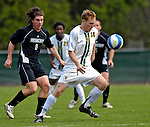 31 October 2007: The University of Vermont Catamounts' Marty Galvin, a Sophomore from No. Weymouth, MA, maintains control of the ball during a game against the University of Binghamton Bearcats at Historic Centennial Field in Burlington, Vermont. The Catamounts shut out the visiting Bearcats 2-0...Mandatory Photo Credit: Ed Wolfstein Photo