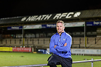 Pictured: Team captain Aaron Bramwell. Tuesday 20 February 2019<br /> Re: Neath RFC training at The Gnoll in Neath, south Wales, UK.