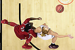COLUMBUS, OH - MARCH 30: Jazmine Jones #23 of the Louisville Cardinals and Chloe Bibby #55 of the Mississippi State Bulldogs fight for a rebound during a semifinal game of the 2018 NCAA Division I Women's Basketball Final Four at Nationwide Arena in Columbus, Ohio. (Photo by Ben Solomon/NCAA Photos via Getty Images)