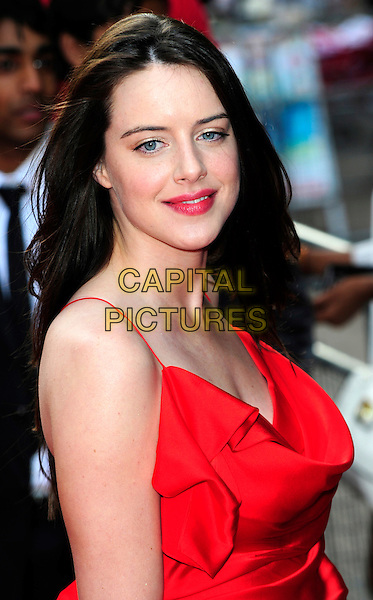 MICHELLE RYAN .Arrives at the World Film Premiere of '4,3,2,1' at the Empire, Leicester Square, London, England, UK, May 25th 2010..4.3.2.1 4321 4-3-2-1 arrivals .portrait headshot red silk satin .CAP/CJ.©Chris Joseph/Capital Pictures.