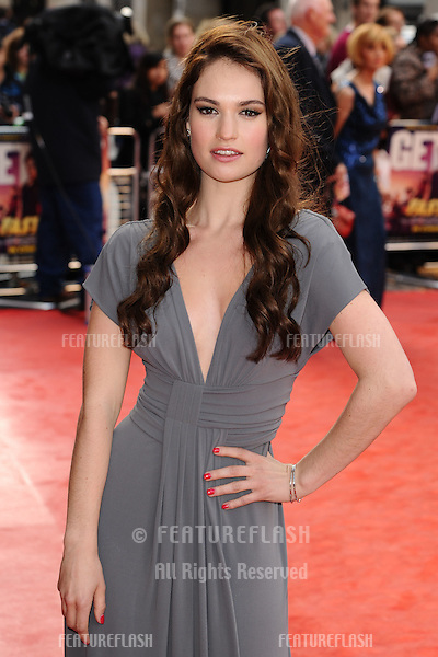 "Lily James arriving for the ""Fast Girls"" premiere at the Odeon West End, Leicester Square, London. 07/06/2012 Picture by: Steve Vas / Featureflash"