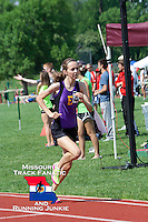 Eureka sophomore Hannah Long nears the finish of the 800  meters, a race she dominated with an eight-second win, finishing in 2:12, at the Missouri Class 4 Sectional 1 at MICDS in St. Louis, Saturday, May 18, 2013.