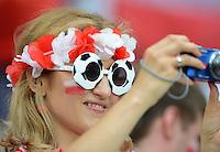 FUSSBALL  EUROPAMEISTERSCHAFT 2012   VORRUNDE Tschechien - Polen               16.06.2012 Polnischer Fussball Fan
