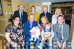 Parents David and Amy Lucid,  celebrates the christening of Baby Evan at St. Brendan's Church Tralee by Fr. Padraig Walsh on Saturday with a party at the Brogue Inn with family and friends.