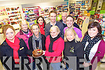 Customers and staff at the Ashe Street Pharmacy celebrated their third birthdat on Friday, the Radio Kerry roadcaster was broadcasting from outside the shop on the day, from left: Siobhan Whyte, Pat Turner, Vera Heim, Jane Kerrisk, Mike Ryle, Shiela Duggan, Brendan Moore, Andrew Morressy, Eileen Moynihan and Fiona Curran.
