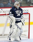 Alex Lyon (Yale - 34) - The visiting Yale University Bulldogs defeated the Harvard University Crimson 2-1 (EN) on Saturday, November 15, 2014, at Bright-Landry Hockey Center in Cambridge, Massachusetts.