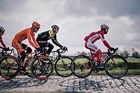 Michael van Staeyen (BEL/Cofidis) over the cobbles<br /> <br /> Driedaagse Brugge-De Panne 2018<br /> Bruges - De Panne (202km)