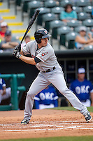 Nashville Sounds outfielder Matt Carson (10) at bat during the Pacific Coast League baseball game against the Oklahoma City Dodgers on June 12, 2015 at Chickasaw Bricktown Ballpark in Oklahoma City, Oklahoma. The Dodgers defeated the Sounds 11-7. (Andrew Woolley/Four Seam Images)