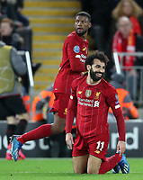 11th March 2020; Anfield, Liverpool, Merseyside, England; UEFA Champions League, Liverpool versus Atletico Madrid;  Mohammed Salah of Liverpool reacts after being denied a free kick