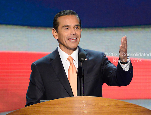 Permanent Chair of the 2012 Democratic Convention Committee Mayor Antonio R. Villaraigosa of Los Angeles, California, makes remarks at the 2012 Democratic National Convention in Charlotte, North Carolina on Tuesday, September 4, 2012.  .Credit: Ron Sachs / CNP.(RESTRICTION: NO New York or New Jersey Newspapers or newspapers within a 75 mile radius of New York City)