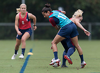 Cary, NC - September 27, 2018:  The USWNT trains in preparation for the group stage of the 2018 CONCACAF Women's Championship at WakeMed Soccer Park.