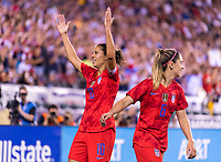 PHILADELPHIA, PENNSYLVANIA - AUGUST 29: Carli Lloyd #10 of the United States celebrates during a game between Portugal and the USWNT at Lincoln Financial Field on August 29, 2019 in Philadelphia, PA.