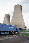 A BNFL lorry at Sellafield nuclear reprocessing plant, Cumbria.
