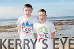 At the North Kerry's KDYS 'fittest Club'  Challenge at Ballyheigue beach  on Saturday were Liam McAuliffe and Eamon Stack Mulvihill from Moyvane youthclub