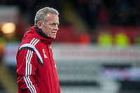 Swansea Manager, Alan Curtis  during the Barclays Premier League match between Swansea City and Sunderland played at the Liberty Stadium, Swansea  on  January the 13th 2016