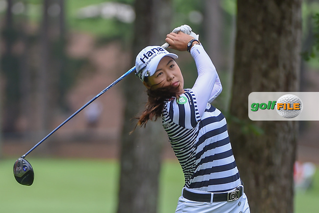 Minjee Lee (AUS) watches her tee shot on 11 during round 1 of the U.S. Women's Open Championship, Shoal Creek Country Club, at Birmingham, Alabama, USA. 5/31/2018.<br /> Picture: Golffile | Ken Murray<br /> <br /> All photo usage must carry mandatory copyright credit (© Golffile | Ken Murray)