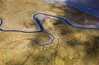 France, Manche (50), Baie du Mont-Saint-Michel, classée Patrimoine Mondial de l'UNESCO, : France, Manche (50),  Les  Prés- Salés Vue aérienne   // France, Manche, Bay of Mont Saint Michel, listed as World Heritage by UNESCO, France, Manche, Mont Saint Michel,   salt meadows , aerial view)