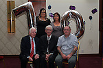 Michael Traynor with Nicola, Yvonne, Nicholas and Oliver Traynor at his 70th in the Bettystown Court Hotel...Picture Jenny Matthews/Newsfile.ie