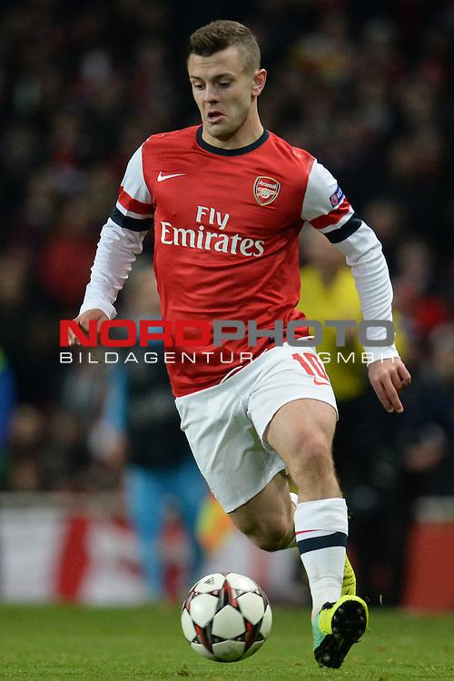 26.11.2013, Emirates Stadium London, UEFA Champions League, Arsenal FC  vs  Olympique Marseille, Gruppenphase, Pool E, im Bild <br /> <br /> Arsenal's Jack Wilshere <br /> <br /> Foto nph / Gunn