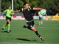 Christine Sinclair shoots on goal, .St. Louis Athletica over FC Gold Pride 1-0 at Buck Shaw Stadium, in Santa Clara, California, Sunday, July 5, 2009.