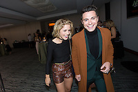 VANCOUVER, BC - OCTOBER 22: Emily Bett Rickards and Colton Haynes at the 100th episode celebration for tv's Arrow at the Fairmont Pacific Rim Hotel in Vancouver, British Columbia on October 22, 2016. Credit: Michael Sean Lee/MediaPunch