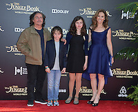 LOS ANGELES, CA. April 4, 2016. Actress Amy Brenneman &amp; husband Brad Silberling &amp; children at the world premiere of &quot;The Jungle Book&quot; at the El Capitan Theatre, Hollywood.<br /> Picture: Paul Smith / Featureflash