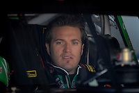 Mar 30, 2007; Martinsville, VA, USA; Nascar Nextel Cup Series driver J.J. Yeley (18) during practice for the Goody's Cool Orange 500 at Martinsville Speedway. Martinsville marks the second race for the new car of tomorrow. Mandatory Credit: Mark J. Rebilas