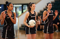 24.10.2015 Silver Ferns Bailey Mes in action during the Silver Ferns training head of their netball test match against the Australian Diamonds in Melbourne. Mandatory Photo Credit ©Michael Bradley.